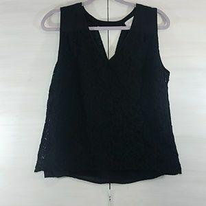 Laundry by Shelli Segal black lace tank top